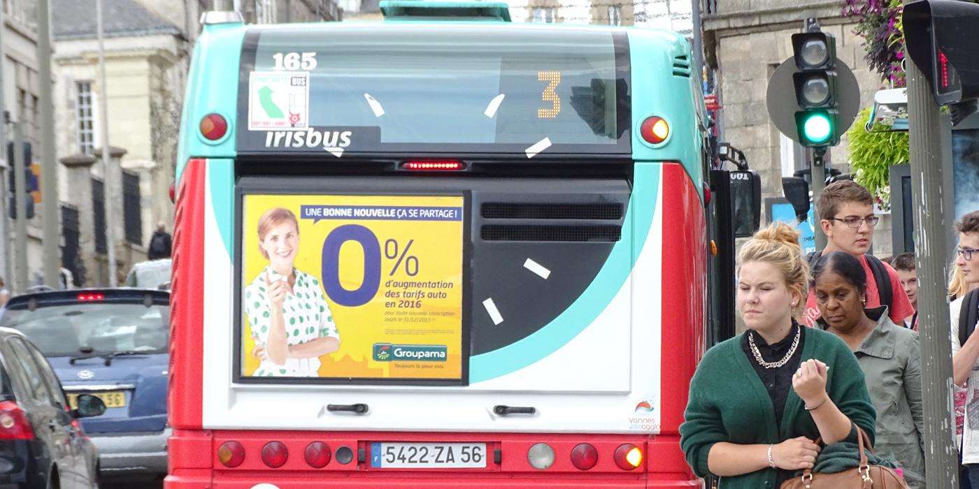 Affichage Arrière bus